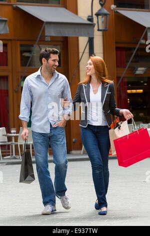 Paar Besuch Paris - Stockfoto