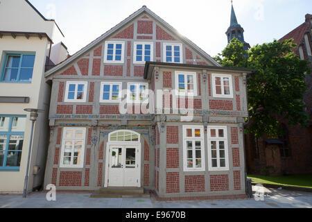 neu restaurierte Haus, Altstadt, eine der Aller Verden; Niedersachsen; Deutschland; Europa; - Stockfoto