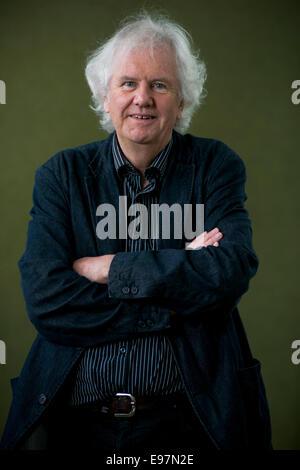 Preisgekrönte Schriftsteller Ron Butlin erscheint das Edinburgh International Book Festival. - Stockfoto