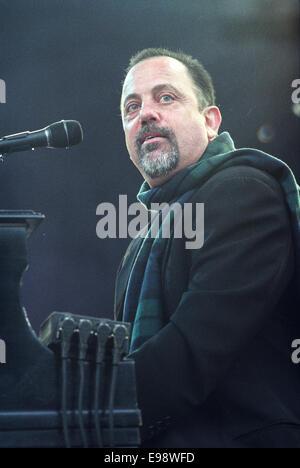 Amerikanischer Sänger-Songwriter Billy Joel Konzert in Glasgow, Schottland, 1998. - Stockfoto