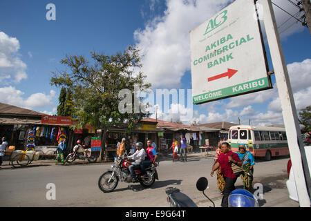 Äußere Geschäftsbank in Dar Es Salaam, Tansania, Ostafrika. - Stockfoto