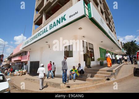 Äußere Bank in Moshi, Tansania, Ostafrika. - Stockfoto