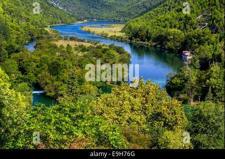 Wasserfälle Krka, Nationalpark, Dalmatien, Kroatien - Stockfoto