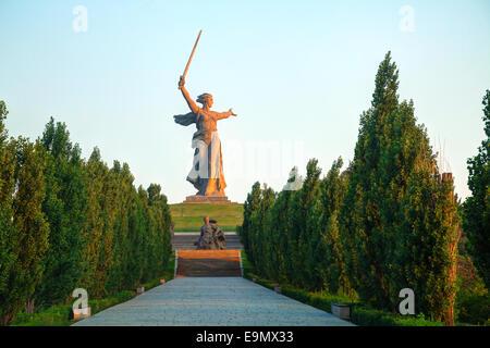 """""""Der Heimat ruft!""""-Denkmal in Wolgograd - Stockfoto"""