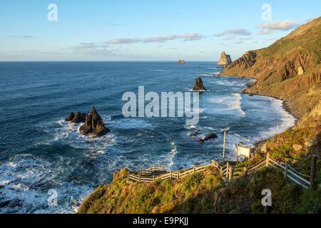 Küste in der Nähe von Benijo, Teneriffa, Kanarische Inseln - Stockfoto