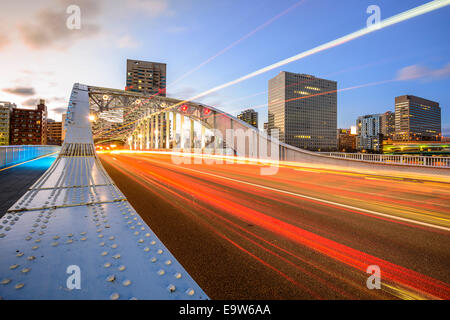 Tokyo, Japan Stadtbild und Straße Verkehr. - Stockfoto