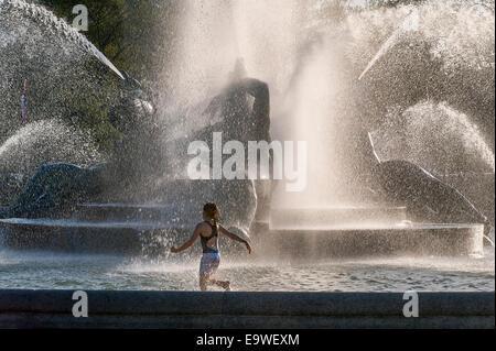 Swann Brunnen in Logans Kreis, Philadelphia, Pennsylvania - Stockfoto