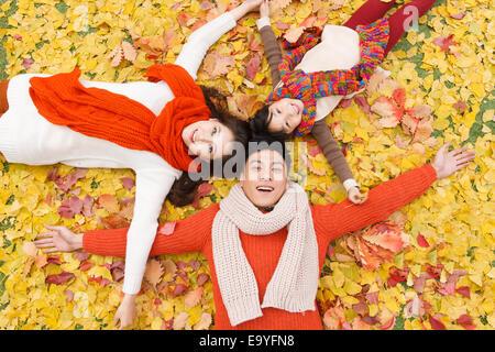Porträt des chinesischen Familie - Stockfoto