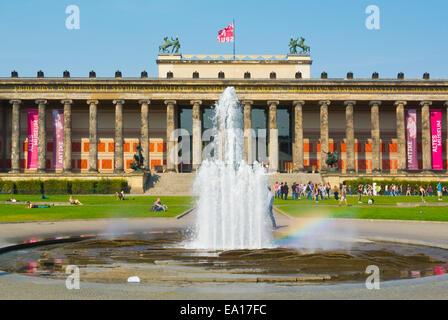 Altes Museum, Lustgarten park, Museumsinsel, der Museumsinsel, Bezirk Mitte, Berlin, Deutschland - Stockfoto