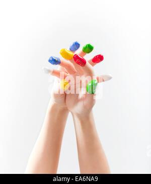 die Hände von Frauen in Lack - Stockfoto