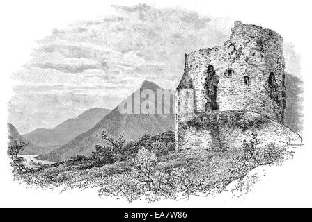 Dolbadarn Burg Llanberis Snowdonia Wales - Stockfoto