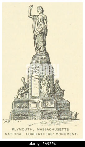 US(1891) p013 PLYMOUTH, nationale Vorfahren Denkmal - Stockfoto