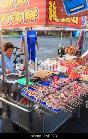 Cijin Insel, Taiwan - November 4,2014: Street Food in Cijin Insel - - Stockfoto