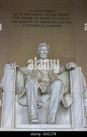 Das Lincoln Memorial ist eine amerikanische National Monument errichtet um zu Ehren der 16. Präsident der Vereinigten - Stockfoto
