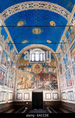 Die Scrovegni-Kapelle - Cappella Degli Scrovegni, Padua, Veneto, Italien - Stockfoto