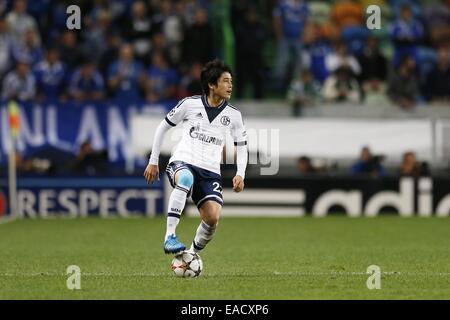 Lissabon, Portugal. 5. November 2014. Atsuto Uchida (Schalke) Fußball: UEFA Champions League-Gruppe G-match zwischen - Stockfoto