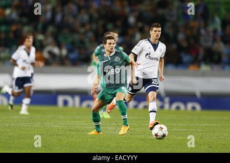 Lissabon, Portugal. 5. November 2014. Cedric (Sporting) Fußball: UEFA Champions League-Gruppe G-match zwischen Sporting - Stockfoto