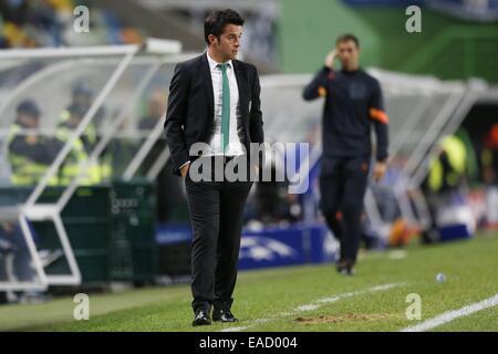 Lissabon, Portugal. 5. November 2014. Marco Silva (Sporting) Fußball: UEFA Champions League-Gruppe G-match zwischen - Stockfoto