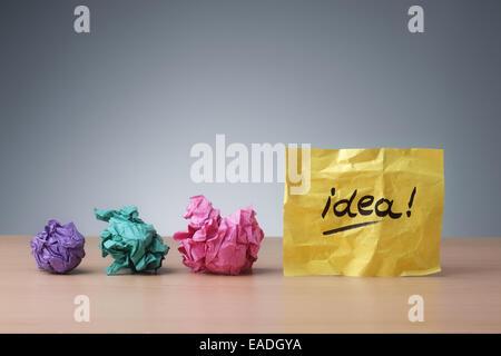 Sich entwickelnde Idee - Stockfoto
