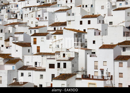 Weiß getünchten Dorf Casares, Casares, Málaga Provinz, Andalusien, Spanien - Stockfoto