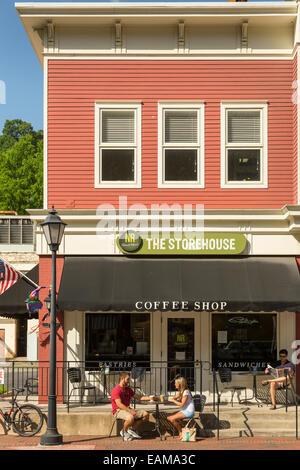 Die Innenstadt von heißen Quellen, Bath County, Virginia, USA-Heimat der historischen Gehöft Resort - Stockfoto