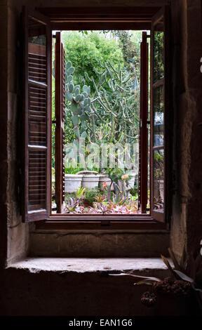 Malta. Argotti Botanical Gardens, Floriana, gegründet im Jahre 1805 - Stockfoto