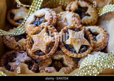 Traditionelle Weihnachts Mäuse Pasteten - Stockfoto