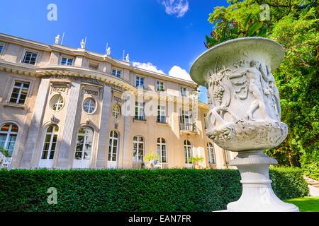 Das Haus der Wannsee. Die Villa diente von leitenden Mitgliedern der Nazi-Partei als Konferenzzentrum und ist jetzt - Stockfoto