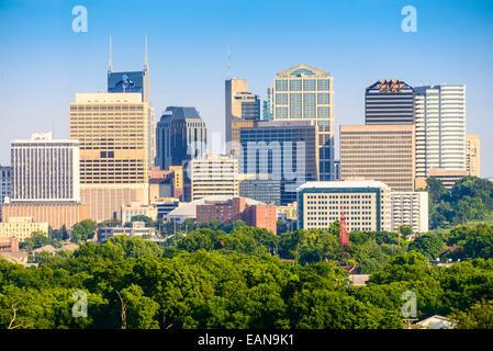 Nashville, Tennessee, USA Skyline der Innenstadt. Stockfoto