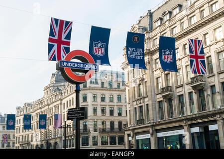 NFL in der Regent Street, London, 27. September 2014 - Stockfoto