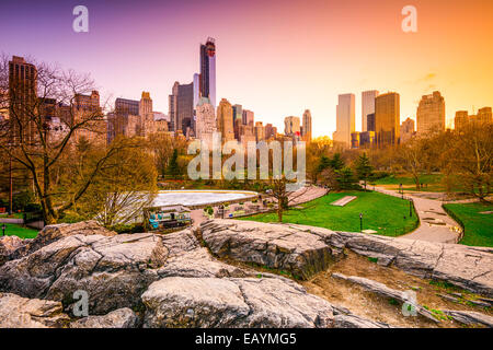 New York City Stadtbild Ansicht vom Central Park entfernt.