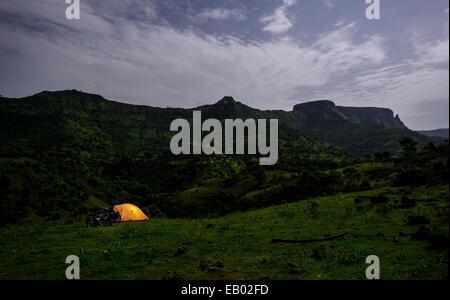 Camping im Hochland von Nord-Äthiopien - Stockfoto