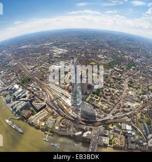 Großbritannien, England, Luftaufnahme der Scherbe in London - Stockfoto