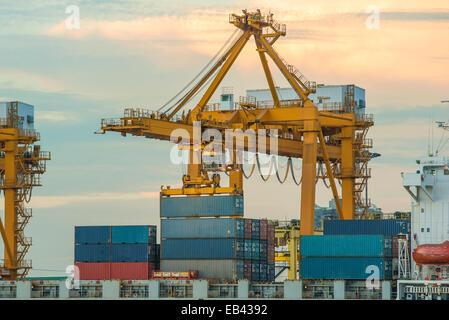 Container-Betrieb in Port-Serie - Stockfoto