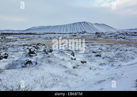 Der tephra Krater Hverfjall, in der Nähe von Mývatn in Island - Stockfoto