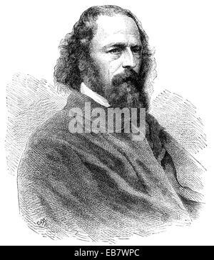 Alfred Tennyson, 1. Baron Tennyson, 1809-1892, ein britischer Dichter des viktorianischen Zeitalters, Alfred Tennyson, - Stockfoto