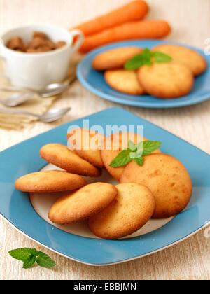 Karotte-Cookies. Rezept zur Verfügung. - Stockfoto