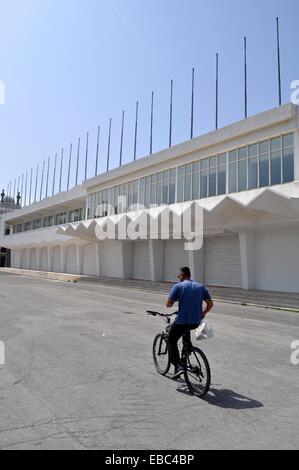 Lido di Venezia, Italien, dem Kino Festival Palast, verlassen in der Nebensaison - Stockfoto