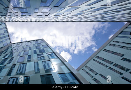 Fassaden am Valentinskamp Straße, Hamburg, Hamburg, Deutschland - Stockfoto