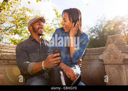 Brautpaar, Central Park, New York, USA - Stockfoto