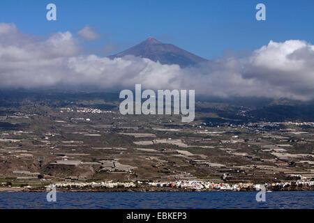 Westküste und Pico del Teide, Kanarische Inseln, Teneriffa - Stockfoto
