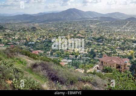 Blick vom Mount Helix am östlichen Teile von der Stadt San Diego, Mount Helix, San Diego, Kalifornien, USA - Stockfoto