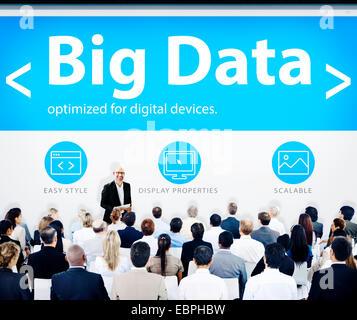 Menschen Präsentation Seminar Big Data Geschäftskonzept - Stockfoto