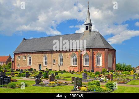 Kirche in Nesse, Deutschland, Niedersachsen, Ostfriesland, Nessebar - Stockfoto