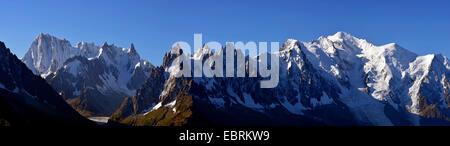 Mont-Blanc-Massiv, Frankreich, Haute-Savoie Chamonix - Stockfoto