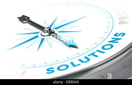Kompass mit Nadel zeigt Word-Projektmappen, weißen und blauen Tönen. Hintergrundbild für die Abbildung von Business - Stockfoto