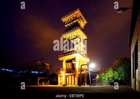 Hansa, die Kokerei in der Nacht, Dortmund, Ruhrgebiet, Nordrhein-Westfalen, Deutschland - Stockfoto