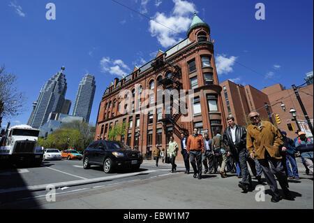 Kreuzung Front Street und Wellington Street, Kanada, Ontario, Toronto - Stockfoto