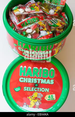 Haribo Weihnachten.Zwei Wannen Von Haribo Weihnachten Auswahl Enthält 45 Mini Taschen