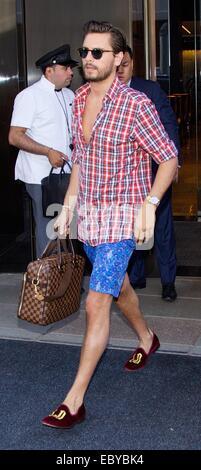 Kourtney Kardashian, Khloe Kardashian und Scott Disick Hotel New York City mit verlassen zu müssen: Scott Disick - Stockfoto